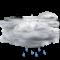 Cielo coperto con pioggia debole
