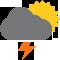 Cielo nuvoloso con scrosci temporaleschi