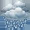 Cielo coperto con pioggia moderate