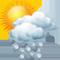 Intervalli nuvolosi con scrosci temporaleschi e grandine