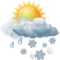 Cielo nuvoloso con intemperie nevose