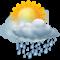 Cielo annuvolato con piogge moderate